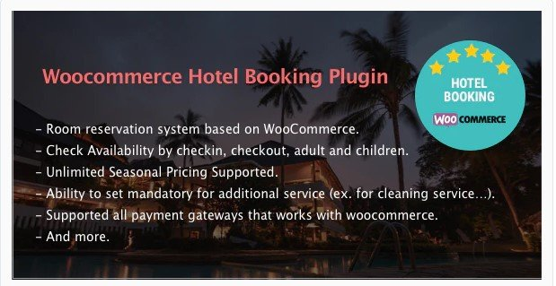 Hotel Booking - WooCommerce Hotel Booking Plugin